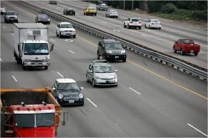 Une Google Car surprise en plein trafic