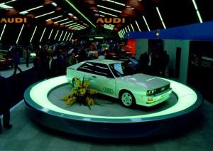 L'Audi Quattro au salon de Genève 1980