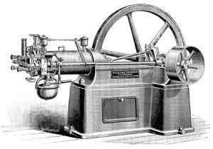 Un moteur à combustion interne (vers 1880)