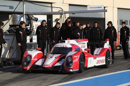 La Toyota TS030 Hybrid en essais sur le circuit Paul Ricard en janvier