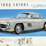 Mercedes 300 SL (W198), brochure de 1955.