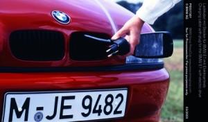 Préhistoire : la prise de recharge façon lave-linge de la BMW E1 (1991)