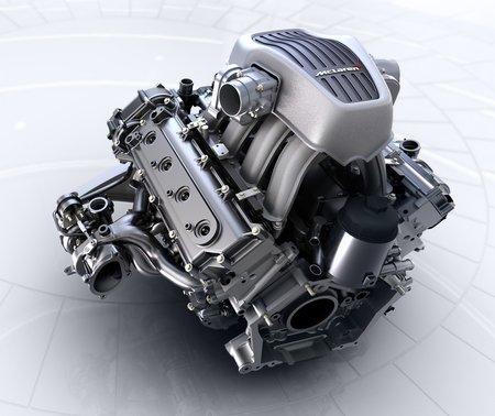 Le V8 3,8 litres biturbo de la McLaren 12C