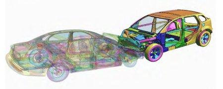 Simulation de crash-test afin de valider les choix structurels.