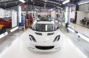 L'usine Lotus à Hethel