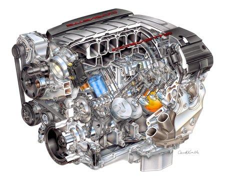 Le V8 LT-1 de la Chevrolet Corvette C7