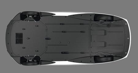 """Le soubassement intégralement caréné de la Volkswagen XL1. Notez les pneus """"XXS"""" !"""