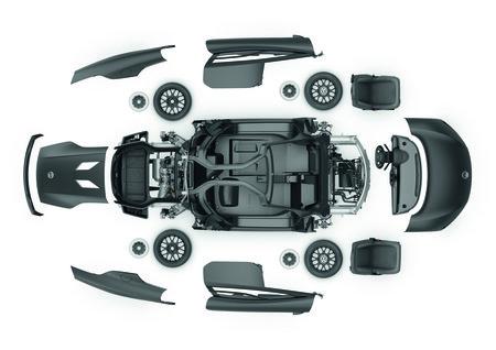Les pièces allégées de la Volkswagen XL1