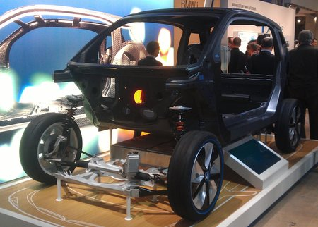 Le châssis de la BMW i3, un bijou d'aluminium et de carbone.
