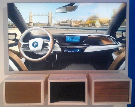 """L'habitacle de la BMW i3 utilise des matériaux """"écolos"""" ou recyclés."""