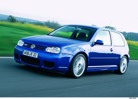 La Volkswagen Golf R32 de 2003, avènement de la boîte DSG.