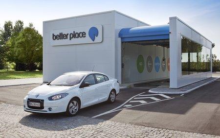 Une station Better Place d'échange automatisé de batteries. La startup israélienne vient de déposer le bilan.