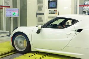 L'Alfa Romeo 4C testée au banc