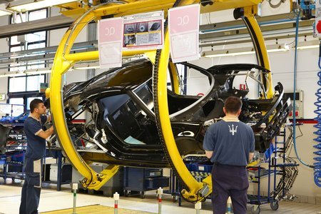 L'Alfa 4C est assemblée chez Maserati, à Modène.