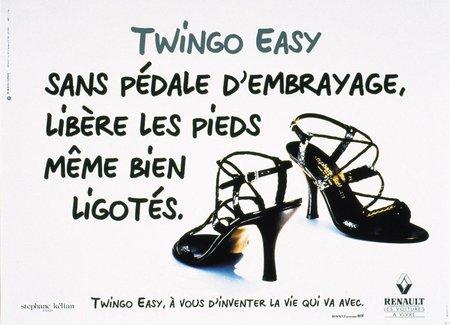 Publicité pour la Renault Twingo Easy
