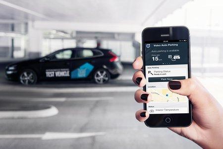 Le programme Volvo comprend également un volet de stationnement automatisé.