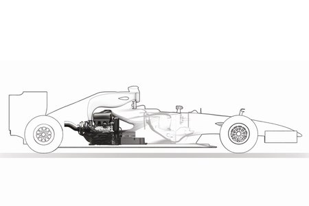 L'intégration du moteur Renault Energy-F1 2014