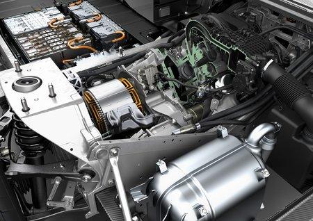 Le REx de la BMW i3 (à droite sur la photo)