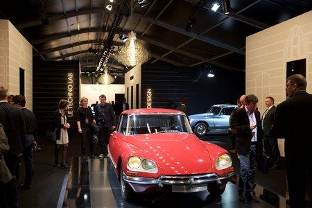 L'exposition des 60 ans de la DS aux Tuileries.