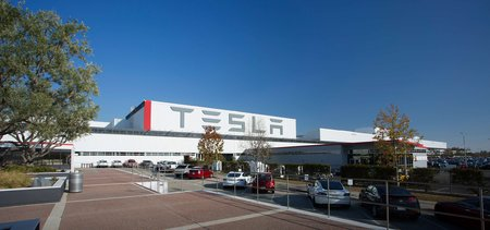 L'usine Tesla à Fremont, Californie.