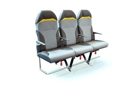 Le siège d'avion Expliseat, conçu avec le Peugeot Design Lab.
