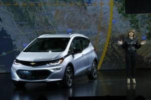 Mary Barra, présidente de General Motors, lors du CES 2016.