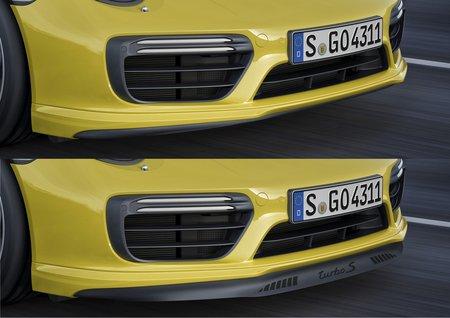 La lame avant rétractable de la Porsche 911 Turbo S