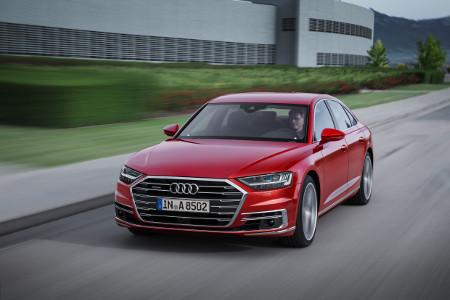 La nouvelle Audi A8 généralise l'hybridation légère sur toute sa gamme.