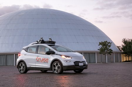 Une Chevrolet Bolt autonome de Cruise Automation, filiale de General Motors