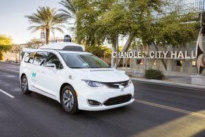 Un minivan Chrysler Pacifica autonome de Waymo (Google)