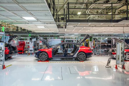 L'usine Tesla de Fremont (Californie)