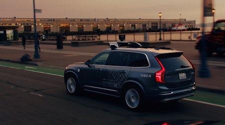 Un Volvo XC90 de la flotte Uber.