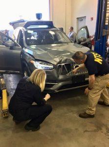 Le XC90 Uber accidenté à Tempe (© NTSB)