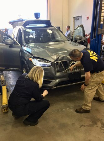Le XC90 Uber accidenté à Tempe (© NTSB)