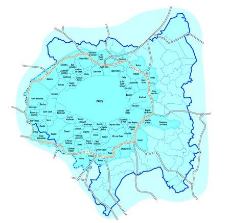 """La carte de la """"Zone à faibles émissions"""" du Grand Paris"""