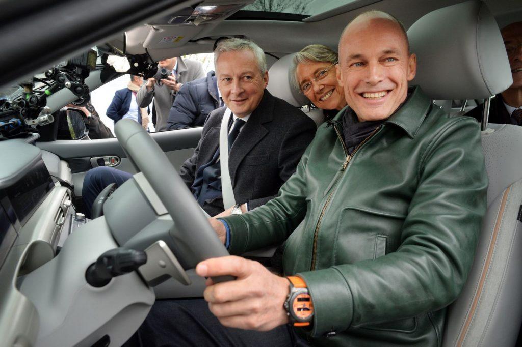 Bertrand Piccard avec Elisabeth Borne et Bruno Le Maire