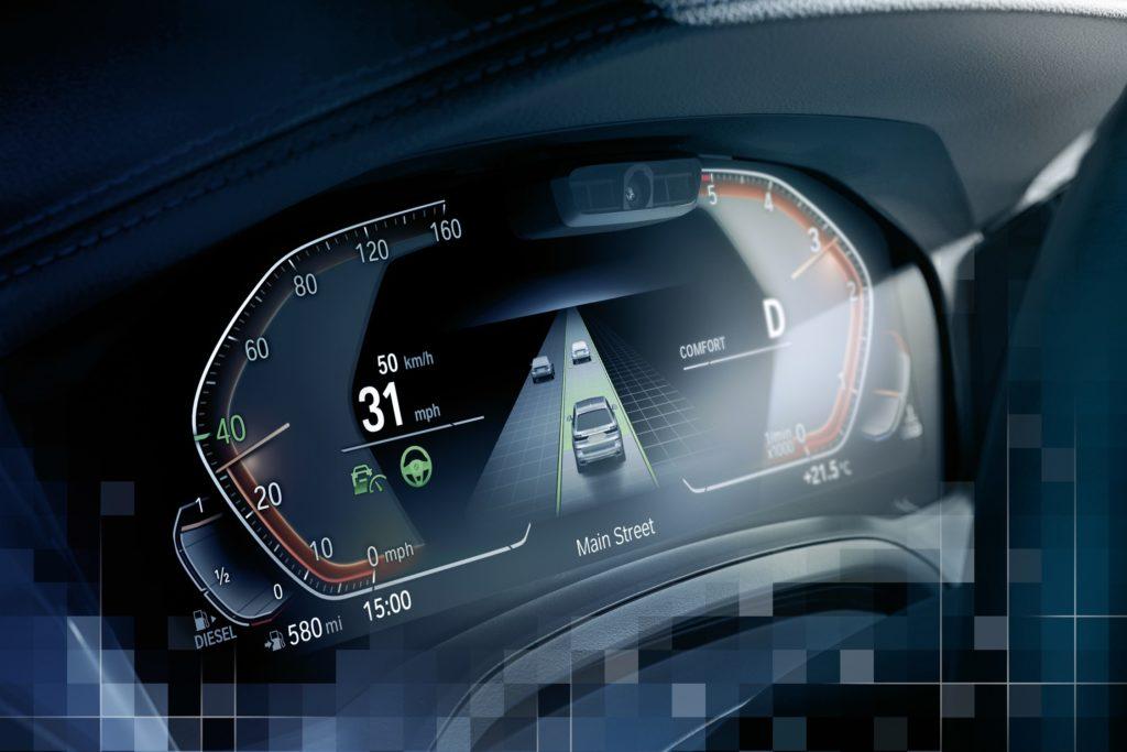 L'interface du système de conduite semi-autonome BMW